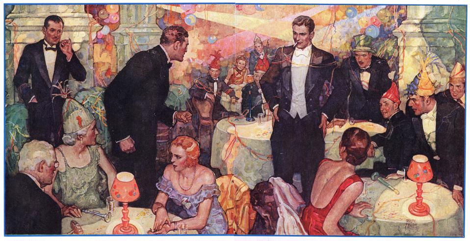 Illustration Of ARoaring 20s Party