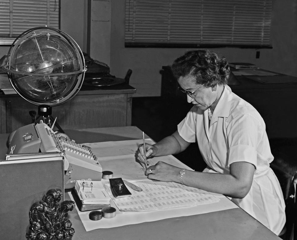 Katherine Johnson At Work