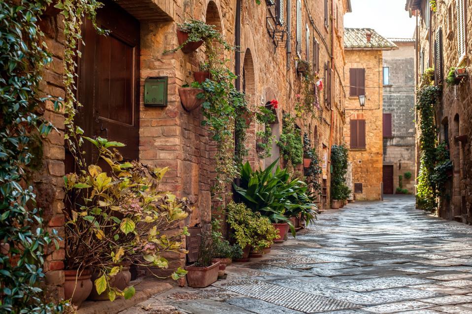 Street view of Pienza