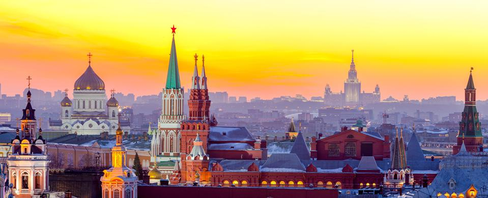 Moscow, view of Moscow Kremlin, Russia