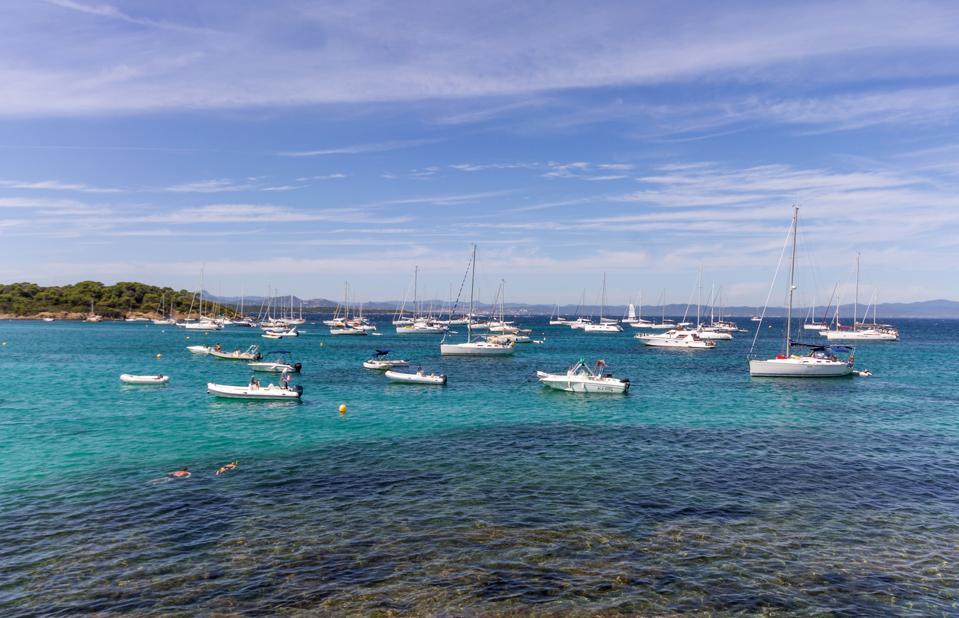 France. Cote D'azur. Porquerolles Island. Plage D'argent