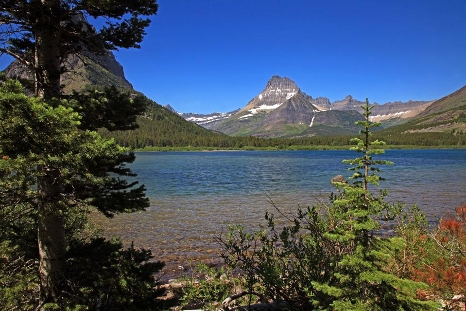 Swiftcurrent Lake and Mount Wilbur in Glacier National Park Montana