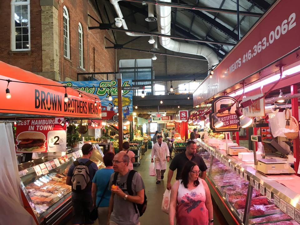 Saint Lawrence Market: Meat Section at a supermarket with...