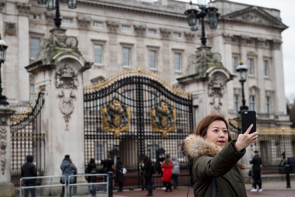 selfie Buckingham palace