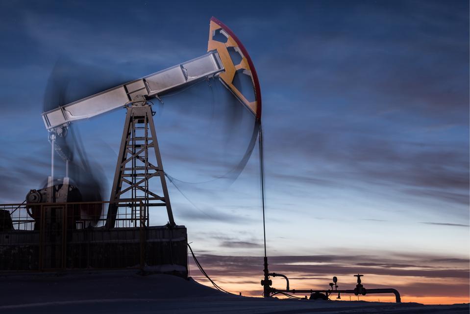 Oil derricks in Tatarstan, Russia