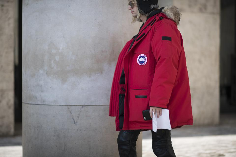 Canada Goose shares slumped 28% after its sales growth outlook fell short.