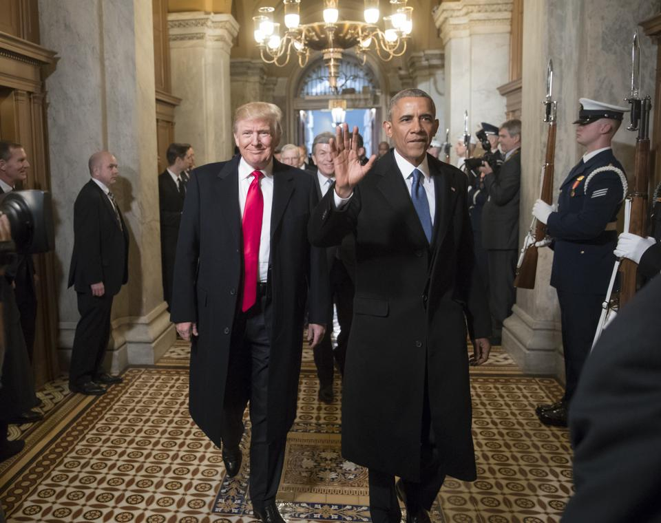 58th U.S. Presidential Inauguration; Trump and Obama