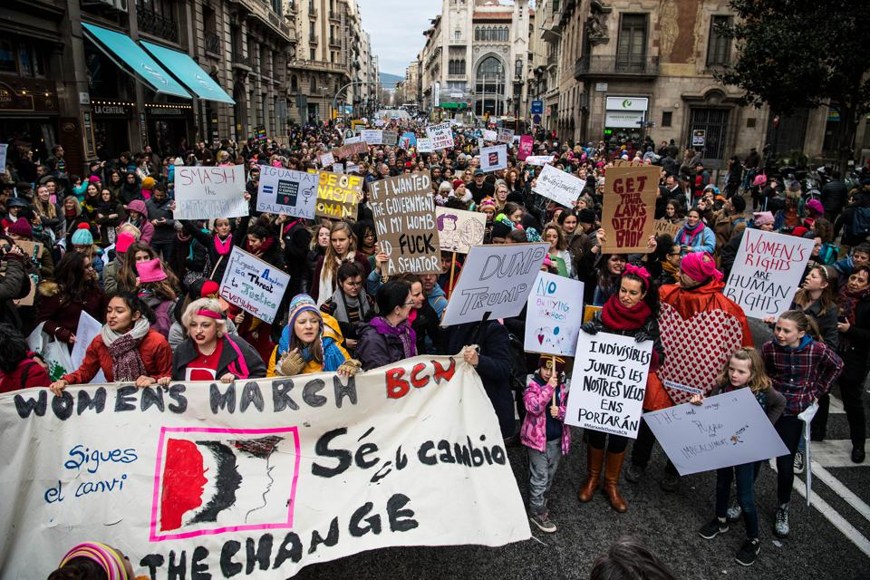 Women's March In Barcelona