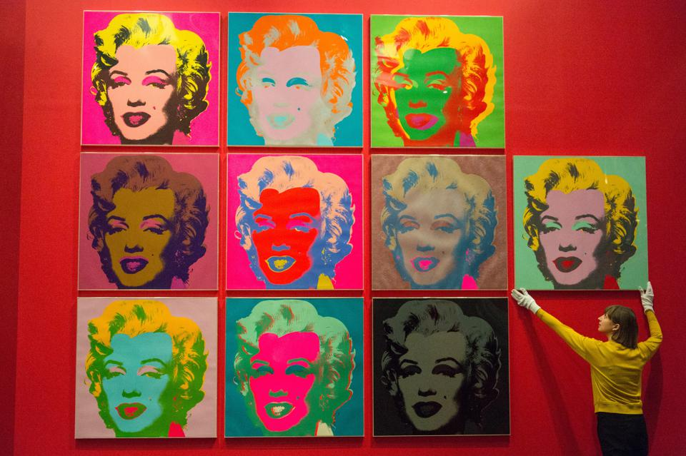 Andy Warhol Screen Prints of Marilyn Monroe at the British Museum