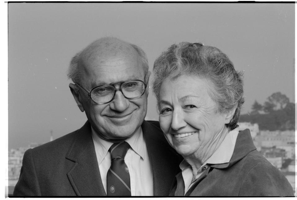Authors Milton and Rose Friedman
