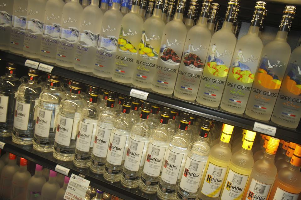 Liquor Library in McCarran International Airport.