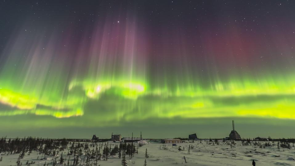 A superb display of aurora borealis seen on March 14