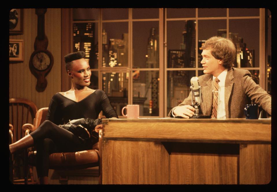 David Letterman Interviewing Grace Jones