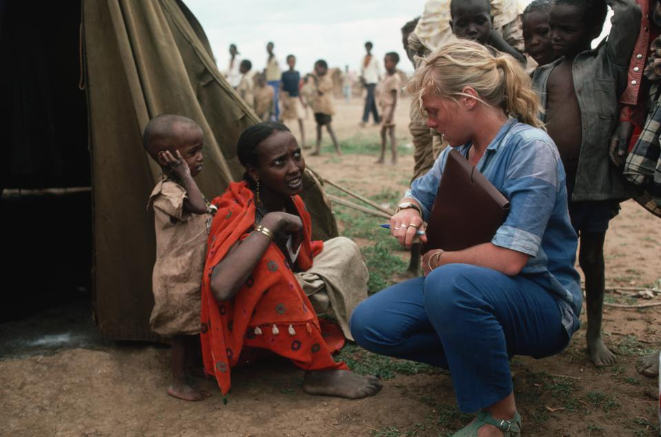 Physician Treating Ethiopian Refugees