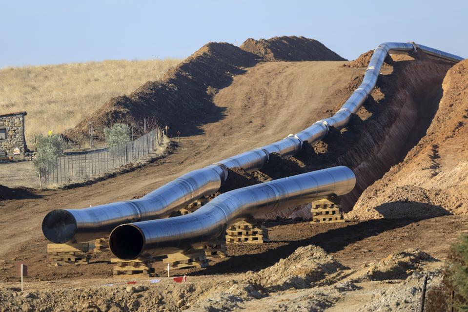 Trans Adriatic Pipeline construction site in Greece