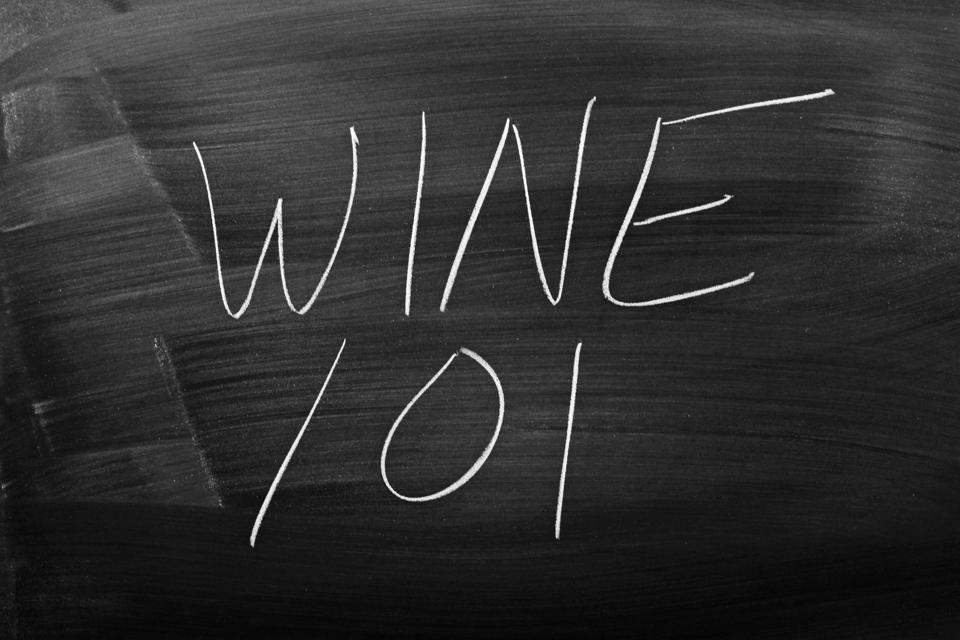 Wine 101 On A Blackboard