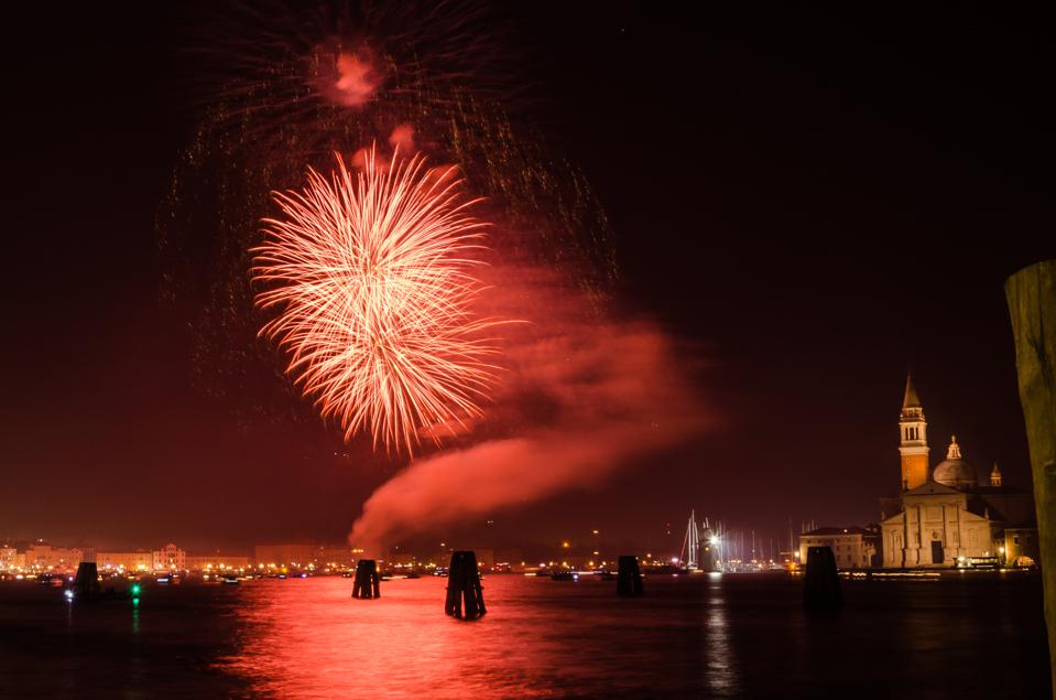 Firework Display in Venice