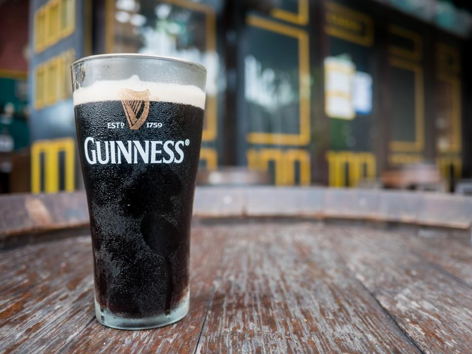 Pattaya , Thailand : Pint of beer served at Guinness Brewery