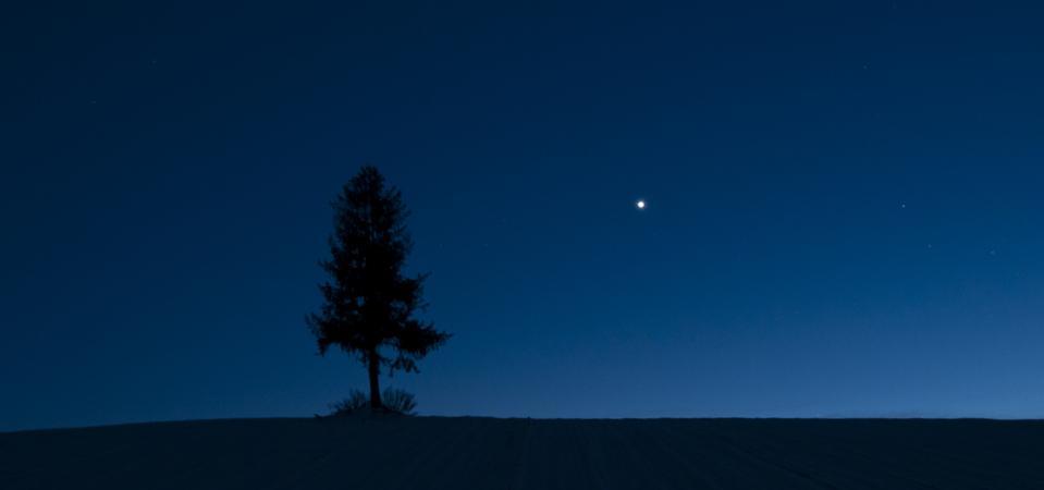 Dusk sky and Venus