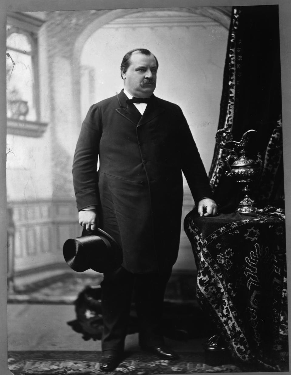 President Grover Cleveland Holding Top Hat