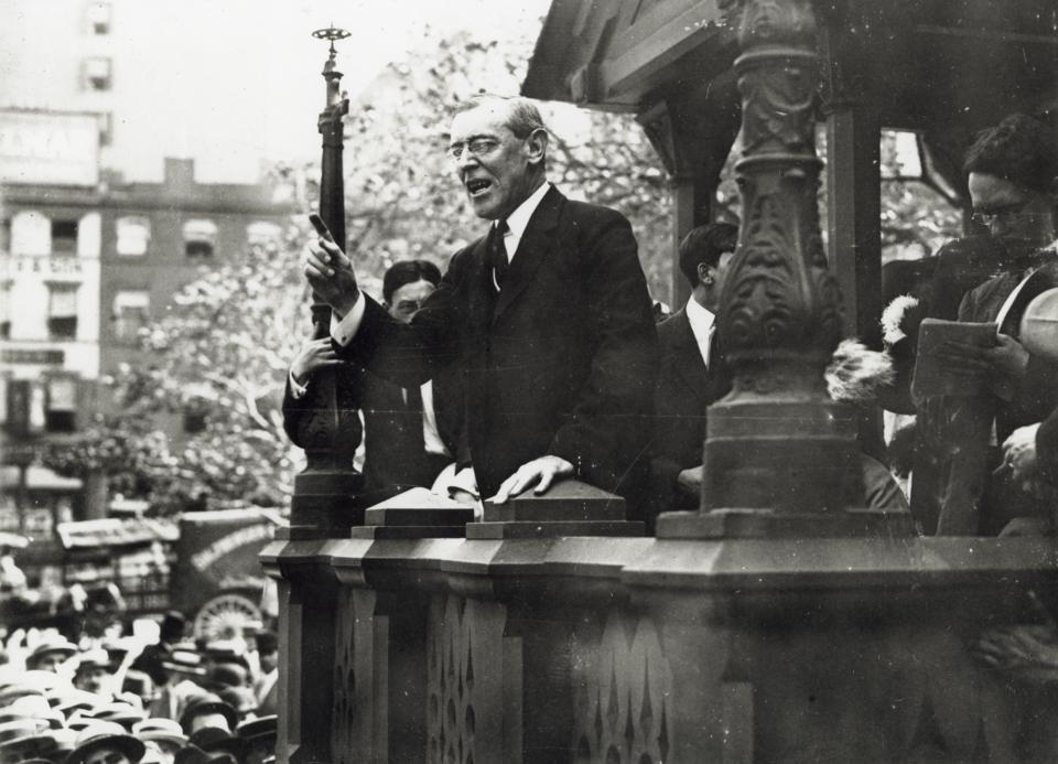 Presidential Woodrow Speaking in Union Square