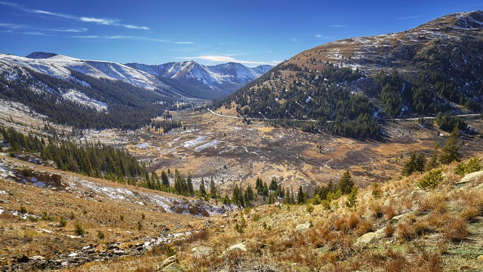Independence Pass mountain landscape, Colorado, USA.