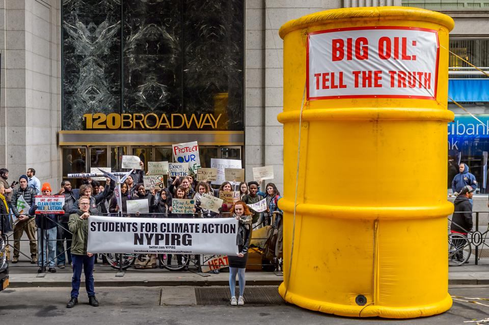 Activists protesting in New York.