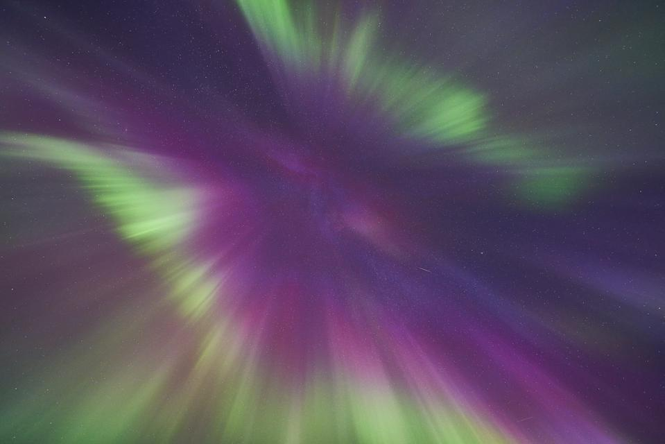 The corona of the Northern Lights from Swedish Lapland. (Photo by Gunar Streu/McPhoto/ullstein bild via Getty Images)