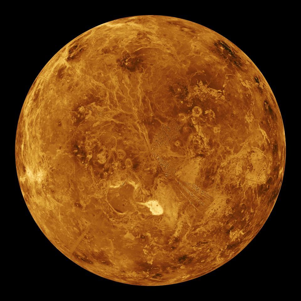View of Venus planet