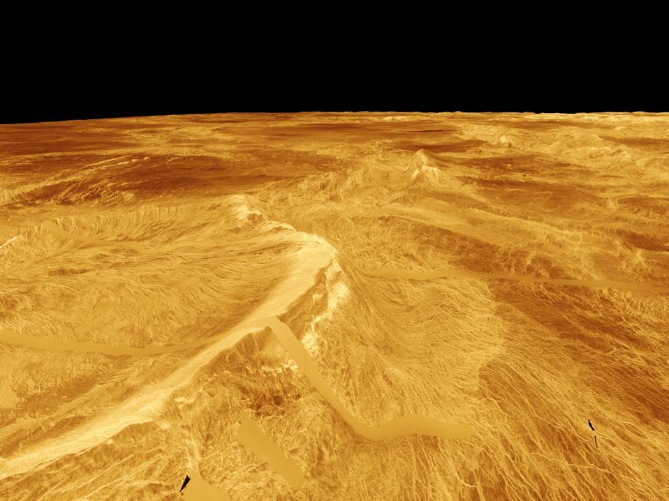 Latona Corona and Dali Chasma on Venus