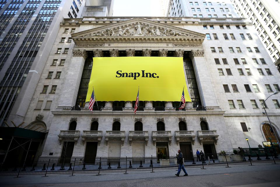 Initial public offering of Snap