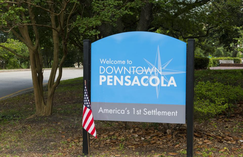Pensacola Florida sign town America's First Settlement