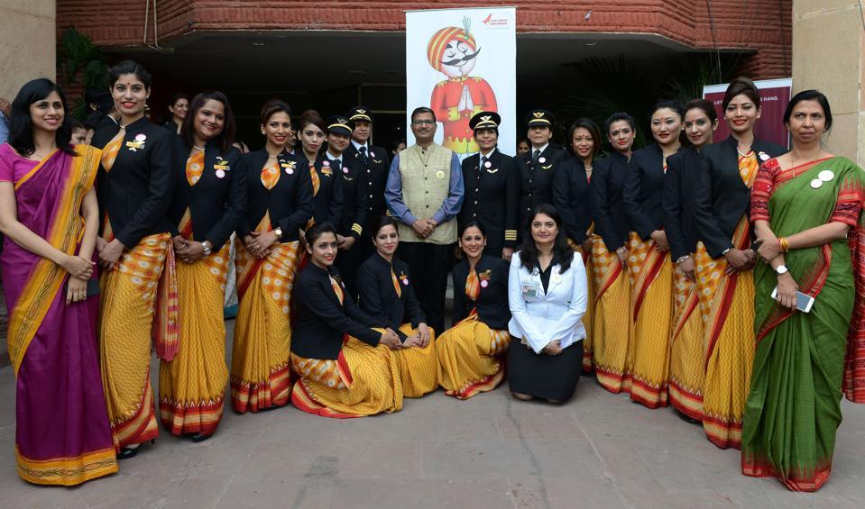 INDIA-WOMEN-FLIGHT