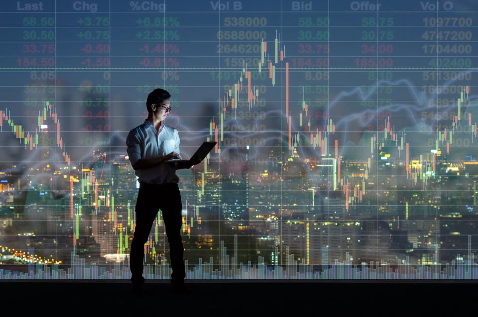 Business  technology and trading concept