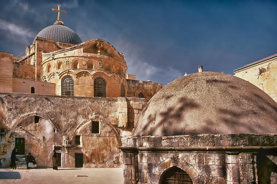 The Church of the Holy Sepulchre in Old Jerusalem in Israel