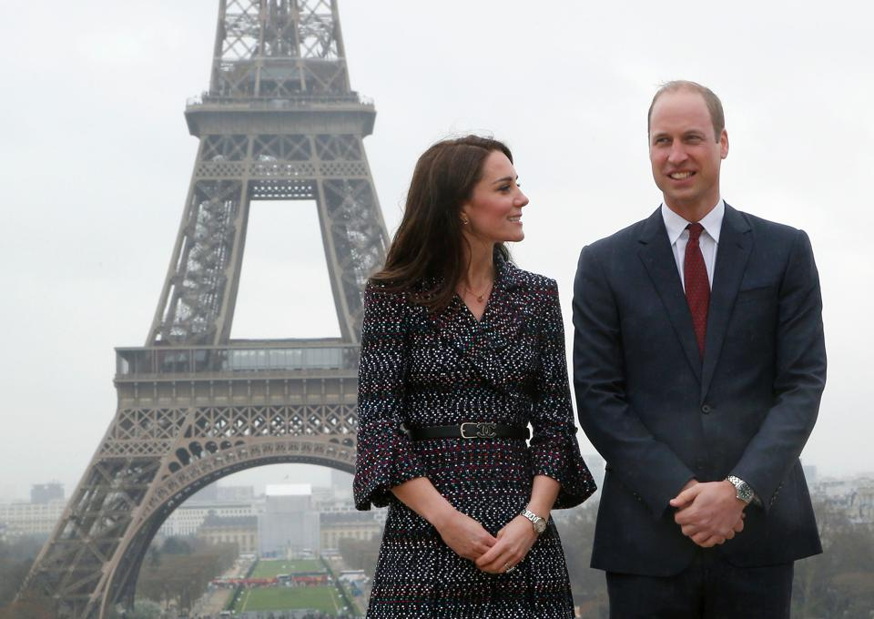 luxury news Princess William Kate Duke Duchess Cambridge Paris