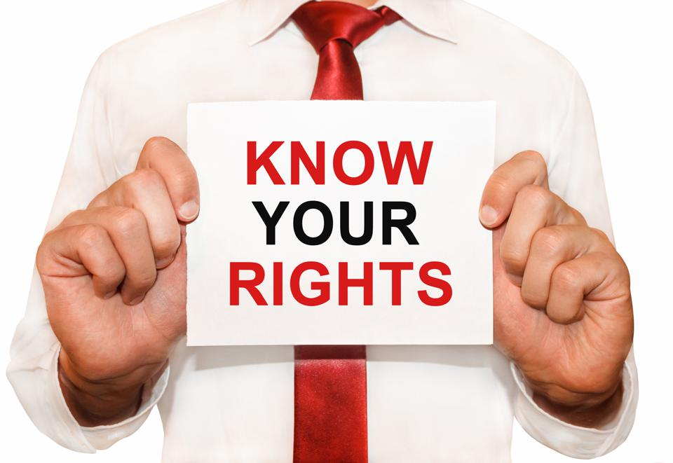 It is important to know your rights.