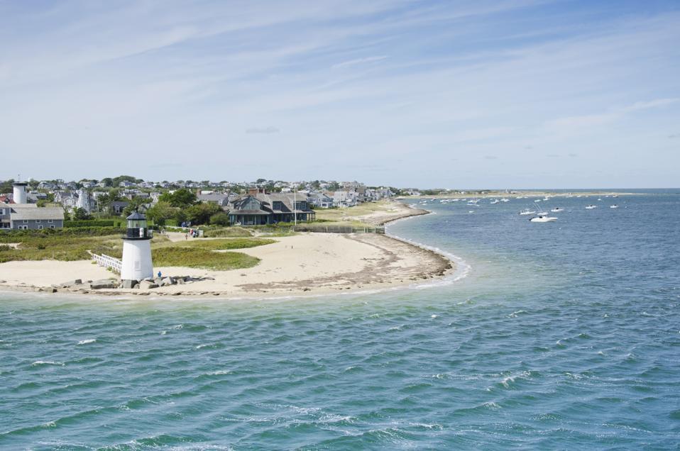 USA, Massachusetts, Nantucket, Seascape with Brant Point Light