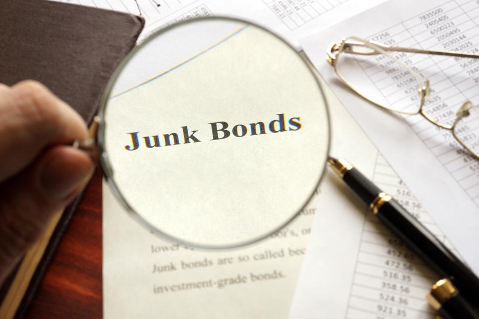 Junk bond default rate is at its highest level in three years.