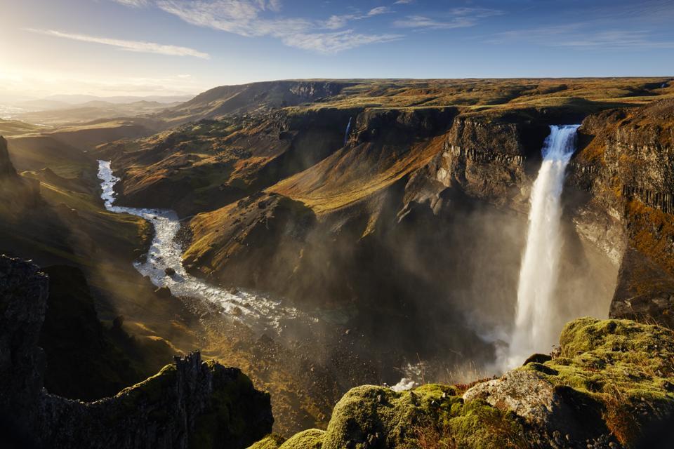 Haifoss waterfall, Iceland coronavirus COVID-19 travel restrictions