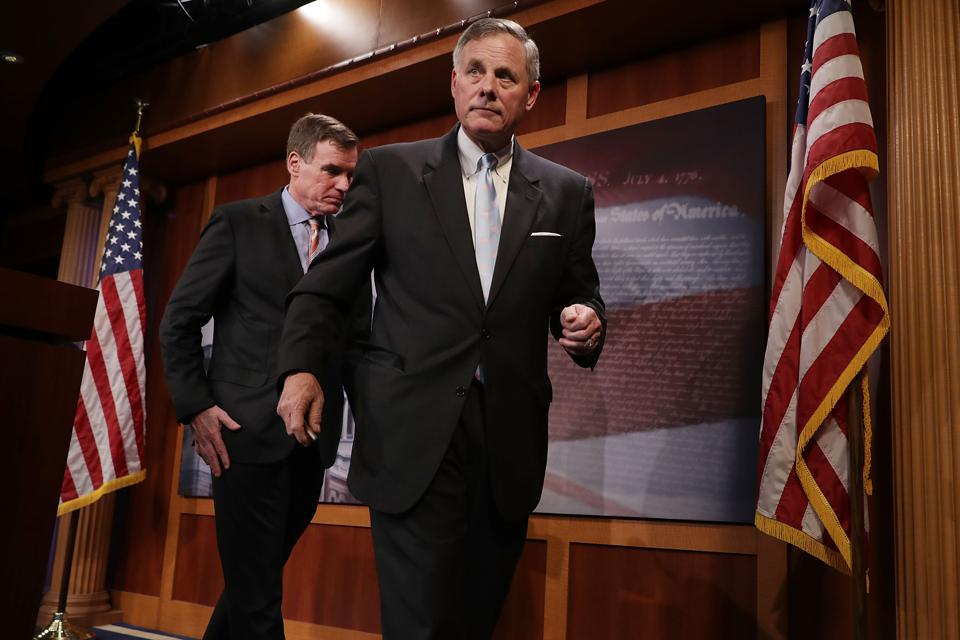 Sen. Intelligence Cmte Heads Discuss Russian Election Interference Investigation
