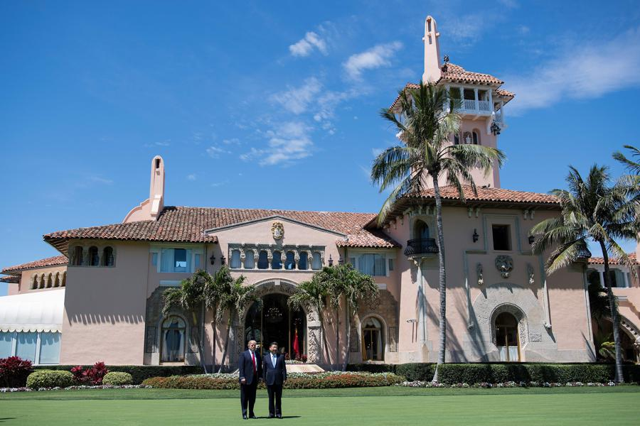 Sinkhole Forms In Front Of Trump's Mar-a-Lago; Twitter Response Is Huge