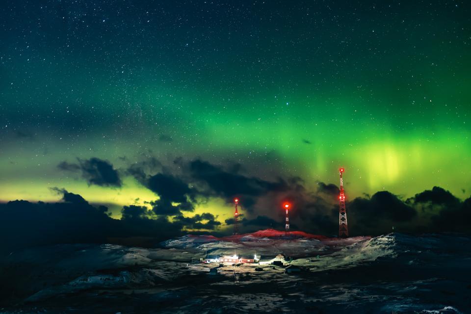 Northern lights Aurora Sky Statio