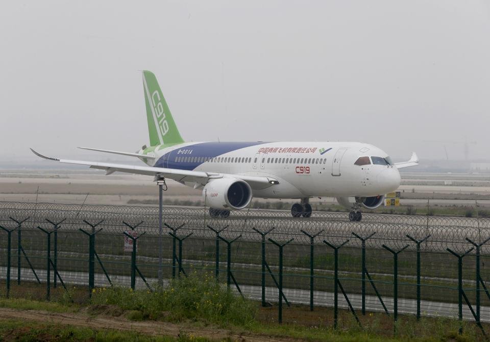 Why China's First Big Commercial Jetliner Won't Quite Fly Overseas