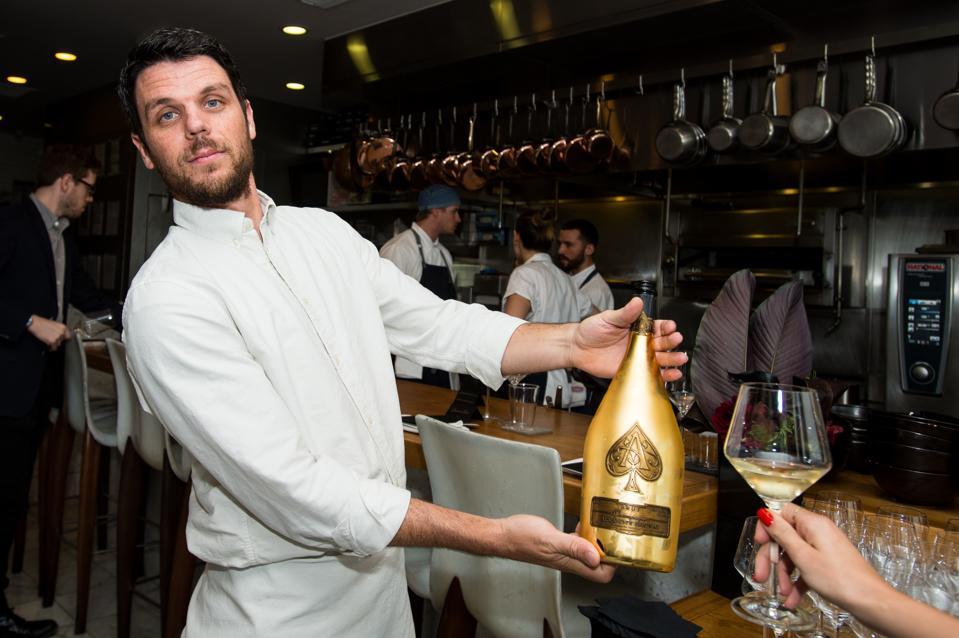 Champagne Armand de Brignac's Noir Dinner At Trois Mec