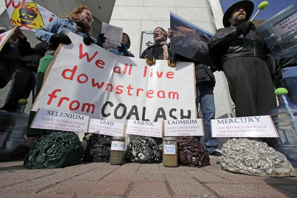 Coal Ash Spill Protest