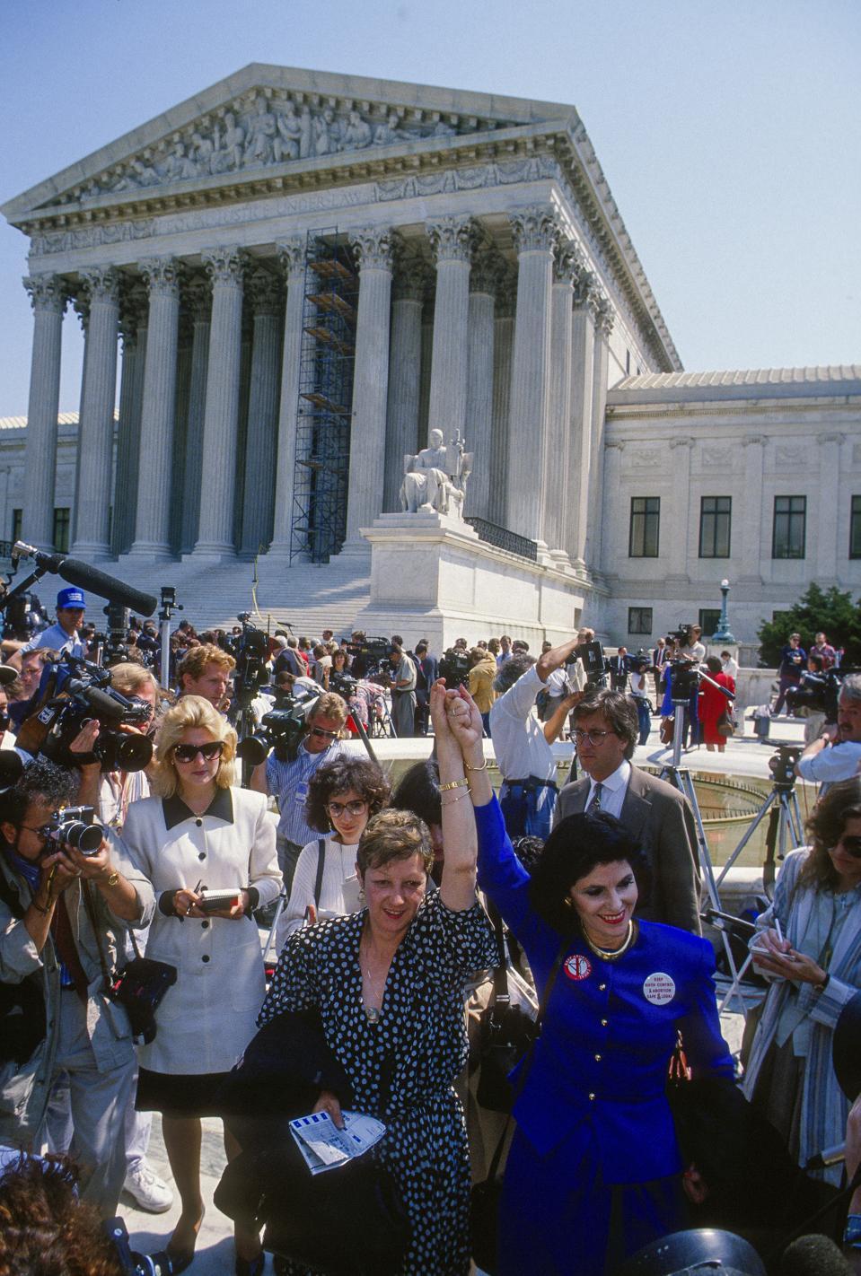 McCorvey & Allred Outside US Supreme Court