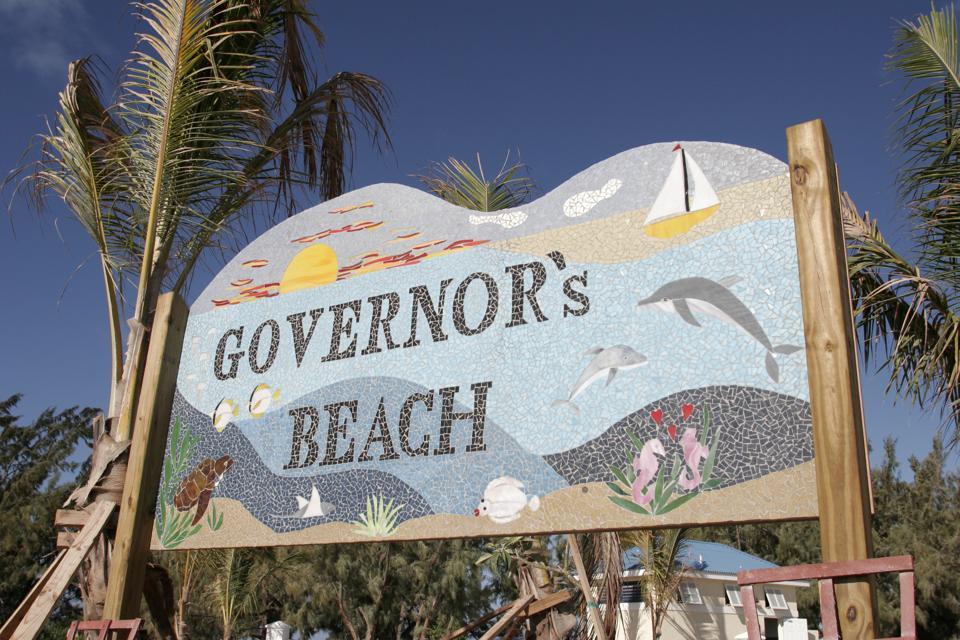 Governor's Beach sign.
