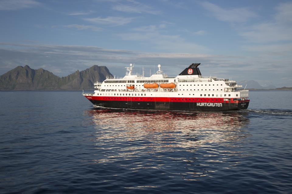 The MS Richard With, part of the Norwegian Hurtigruten fleet.