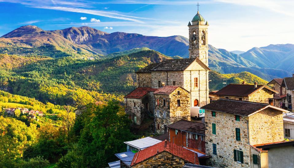 Pictorial small village in mountains - Castelcanafurone, Emilia-Romagna, Italy